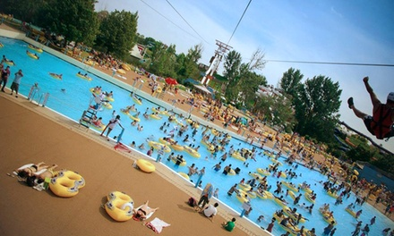 Weekday or Weekend Water Park Admission for One, or Face Drop Zipline Ride at Wild Water Kingdom (Up to 50% Off)