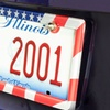 Custom Accessories American Flag License Plate Frame