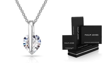 1x oder 2x Herz-Anhänger mit Halskette veredelt mit Kristallen von Swarovski®