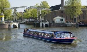 Blue Boat Company: Amsterdam: 75 Min. Rundfahrt für bis zu 4 Personen in 21 möglichen Sprachen mit der Blue Boat Company