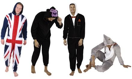 Men's Novelty Hooded Fleece Onesies
