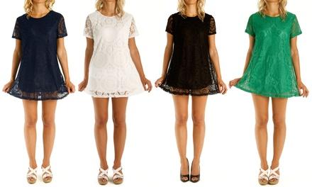1 of 2 kanten jurken in kleur en maat naar keuze vanaf € 12,98