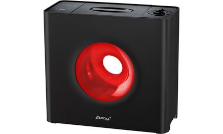 Steba Design-Luftbefeuchter LB 6 Cube mit 3 Geschwindigkeitsstufen und zusätzlichem Kalkfilter in Schwarz-Rot (Koln)