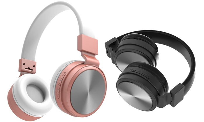 Laud Chrome Folding Wireless Bluetooth Headphones For Smartphones Groupon
