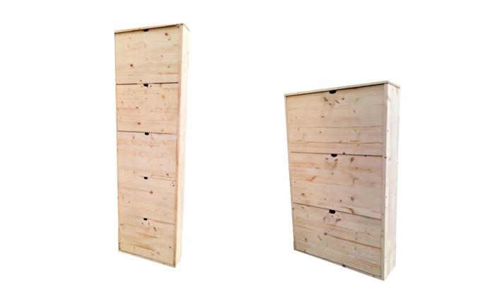 Fino a 53% su Scarpiera in legno massello | Groupon