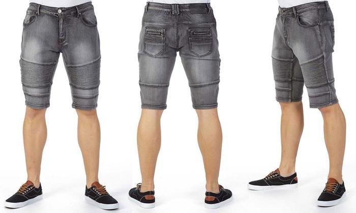 7d50e0fbf9 Xray Jeans Men's Denim Moto Shorts | Groupon
