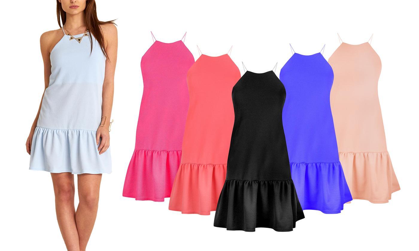 Oops Sleeveless Peplum Frill Mini Dress
