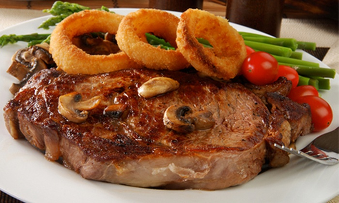 The Old Steps Bar - Leeds: 10oz Rump (£12) or 8oz Sirloin (£15) Steak Meal Plus Starter or Dessert for Two at The Old Steps Bar (Up to 68% Off)