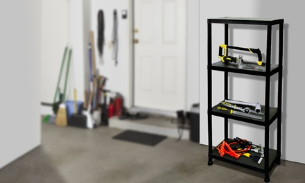 One or Two Rolson FourTier Plastic Shelving Units