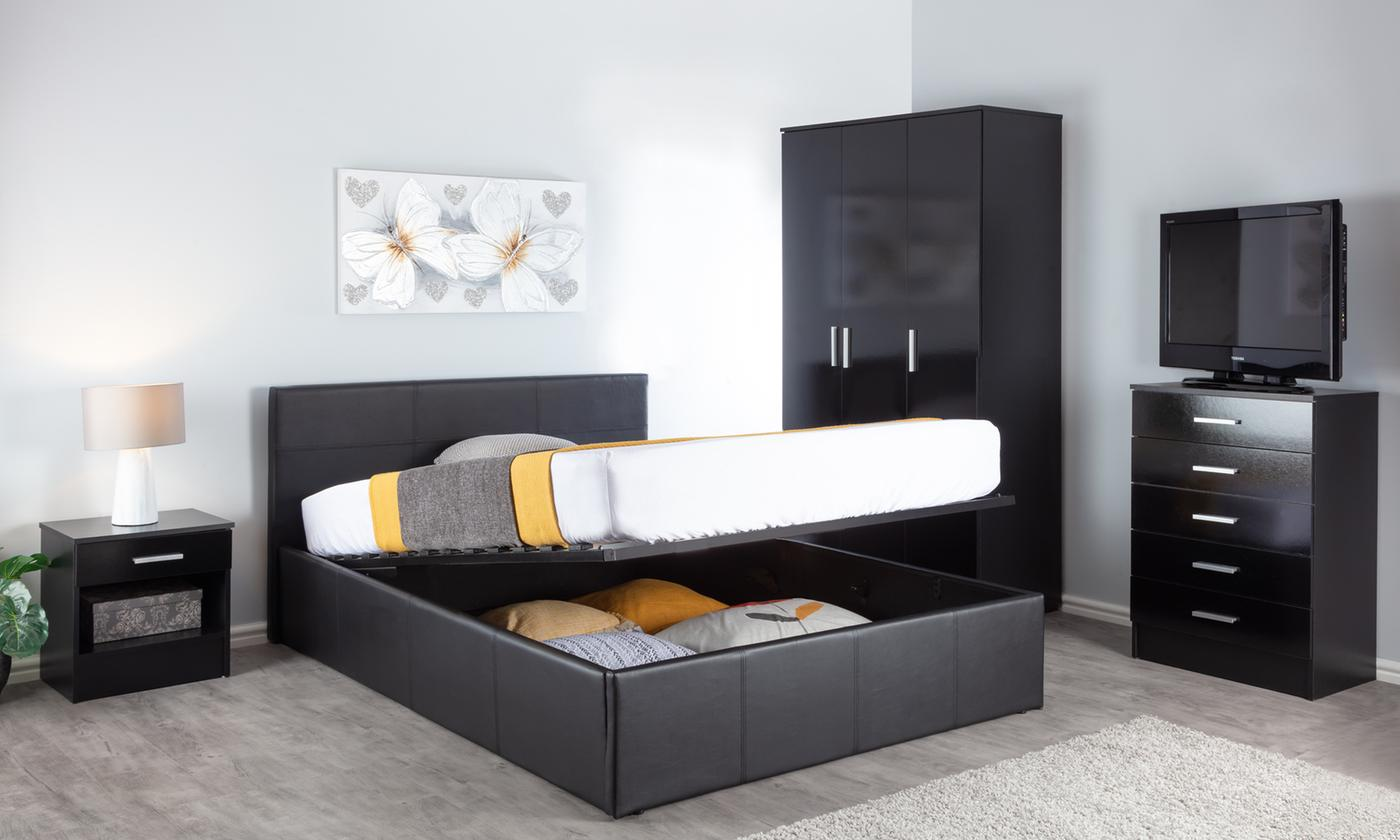 End Lift Ottoman Storage Bed with Optional 6″ Memory Foam Mattress from £118 (1% OFF)