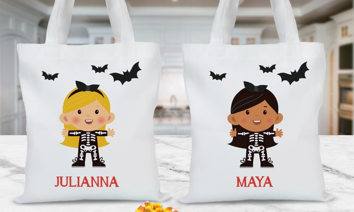 up to 69 off personalized halloween trick or treat tote bags