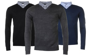 Pull homme Pierre Cardin col V