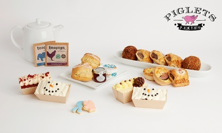 Hello Spring, Vegetarian or Vegan Sparkle Afternoon Tea Box For Two from Piglets Pantry (31% Off)