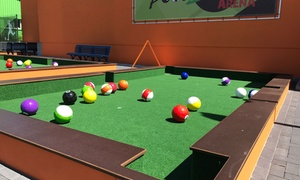 Traumland Erlebnisgolf: 1 oder 2 Std. Pool Soccer für 2-6 Personen bei Traumland Erlebnisgolf (bis zu 43% sparen*)