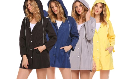 Women's Lightweight Hooded Raincoat: One ($25) or Two ($39.95)