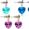 6.00 CTW Heart Drop Earrings Made with Swarovski Crystals by Pink Box