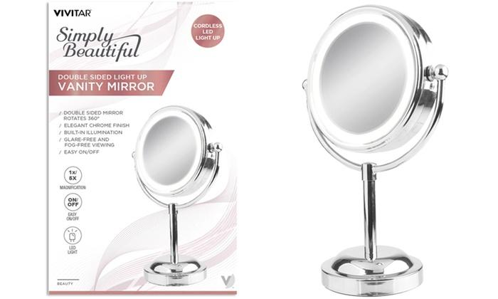 Vivitar Double Sided Light Up Vanity Mirror