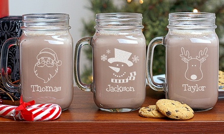 One, Two, Three, or Four Christmas Mason Jars from GiftsForYouNow.com (Up to 53% Off)