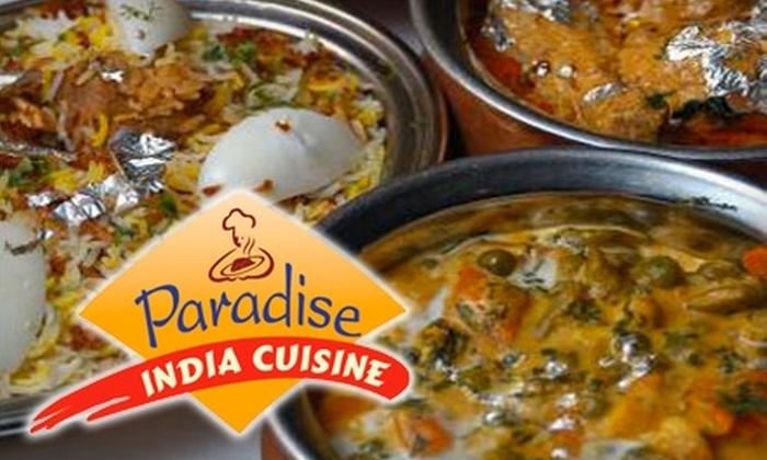 Paradise India Cuisine - Morrisville: $12 for $25 Worth of Indian Fare and Nonalcoholic Drinks at Paradise India Cuisine
