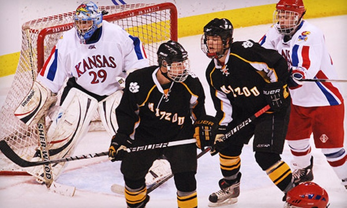 Hockey Border Showdown - Highland Manor: One Ticket to KU Versus MU Hockey Game at Independence Event Center on January 20 at 7:05 p.m. Two Options Available.