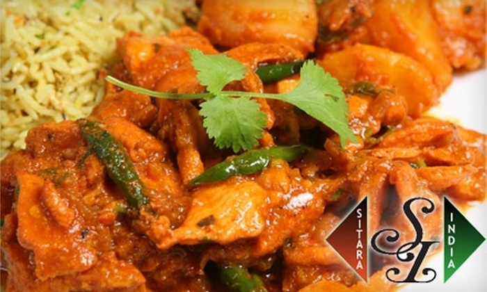 Sitara India - Ogden: $6 for $12 Worth of Authentic Indian Cuisine at Sitara India