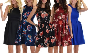 Lyss Loo I'm Smitten A-Line Skater Dress. Plus Sizes Available.