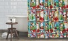 Santa and Friends Shower-Curtain and Hook Set (13-Piece): Santa and Friends Shower-Curtain and Hook Set (13-Piece)