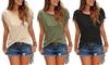 1 ou 2 t-shirts manches courtes à franges pour femme