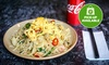 Noodle or Rice Dish & Soft Drink