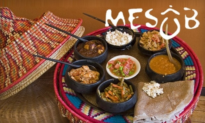 Mesob Restaurant - Montclair: $15 for $35 Worth of Ethiopian Fare and Drinks at Mesob Restaurant in Montclair