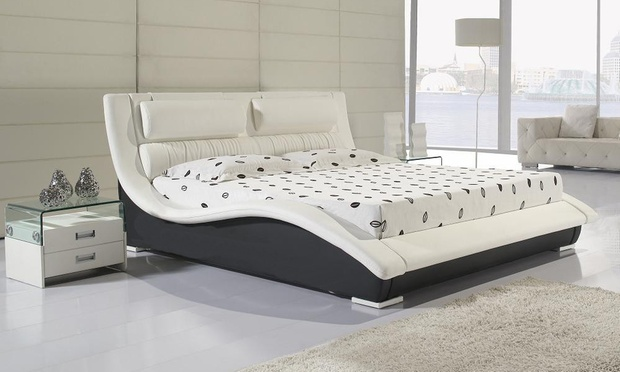 Leather Bed Aed 2599 Aed 2999 Groupon Goods