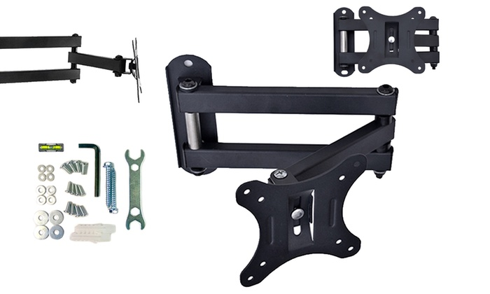 TV Wall Mount Bracket with Swivel and Tilt and Fixing Accessories