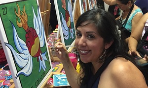 Corazones On Fire: Painting With A Cultural Edge: $18 for $35 Groupon — Corazones On Fire: Painting With A Cultural Edge