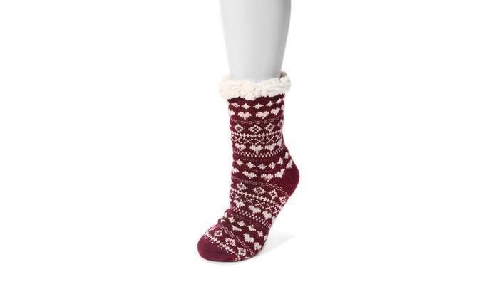 Up to 50 off on muk luks women 39 s cabin socks groupon goods for Warm cabin socks