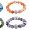 Chakra and Cubic Zirconia Stretch Bracelet