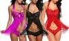 Women's Lace Chemise Lingerie Set