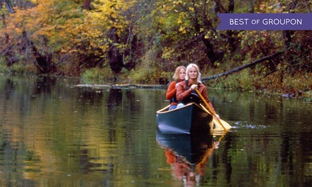 Canoe Rental and Camping from Riverfront Campground & Canoe (Up to 54% Off). Five Options Available.
