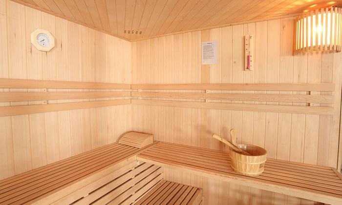 home deluxe skyline sauna groupon goods. Black Bedroom Furniture Sets. Home Design Ideas