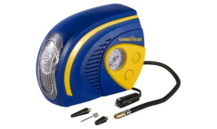 One or Two Goodyear Tyre Air Compressors with LED Light