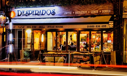 Two-Course Mexican Meal With Glass of Sangria Each For Two or Four at Desperados Restaurant