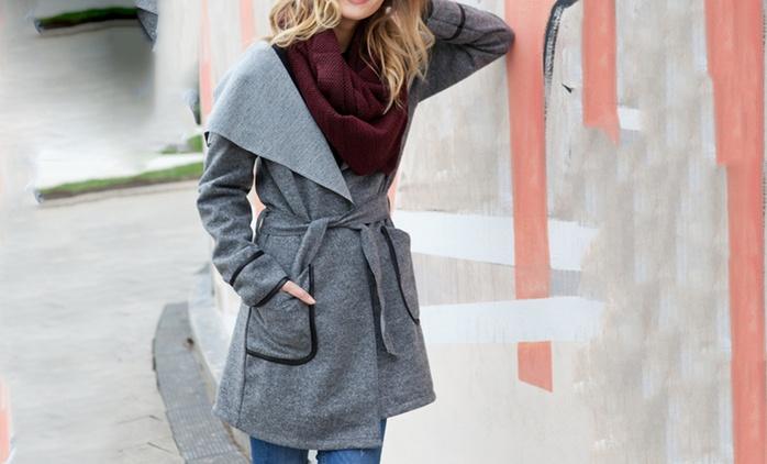 Cappotto da donna a taglia unica con cintura disponibile in 4 colori a 32,99 €