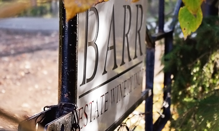Barr Estate Winery - Sherwood Park: One-Hour Wine-Tasting Tour for Two or Four at Barr Estate Winery (40% Off)
