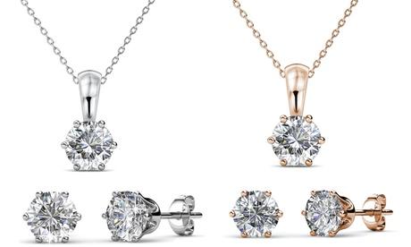 Pendientes o collar con cristales, envío gratuito