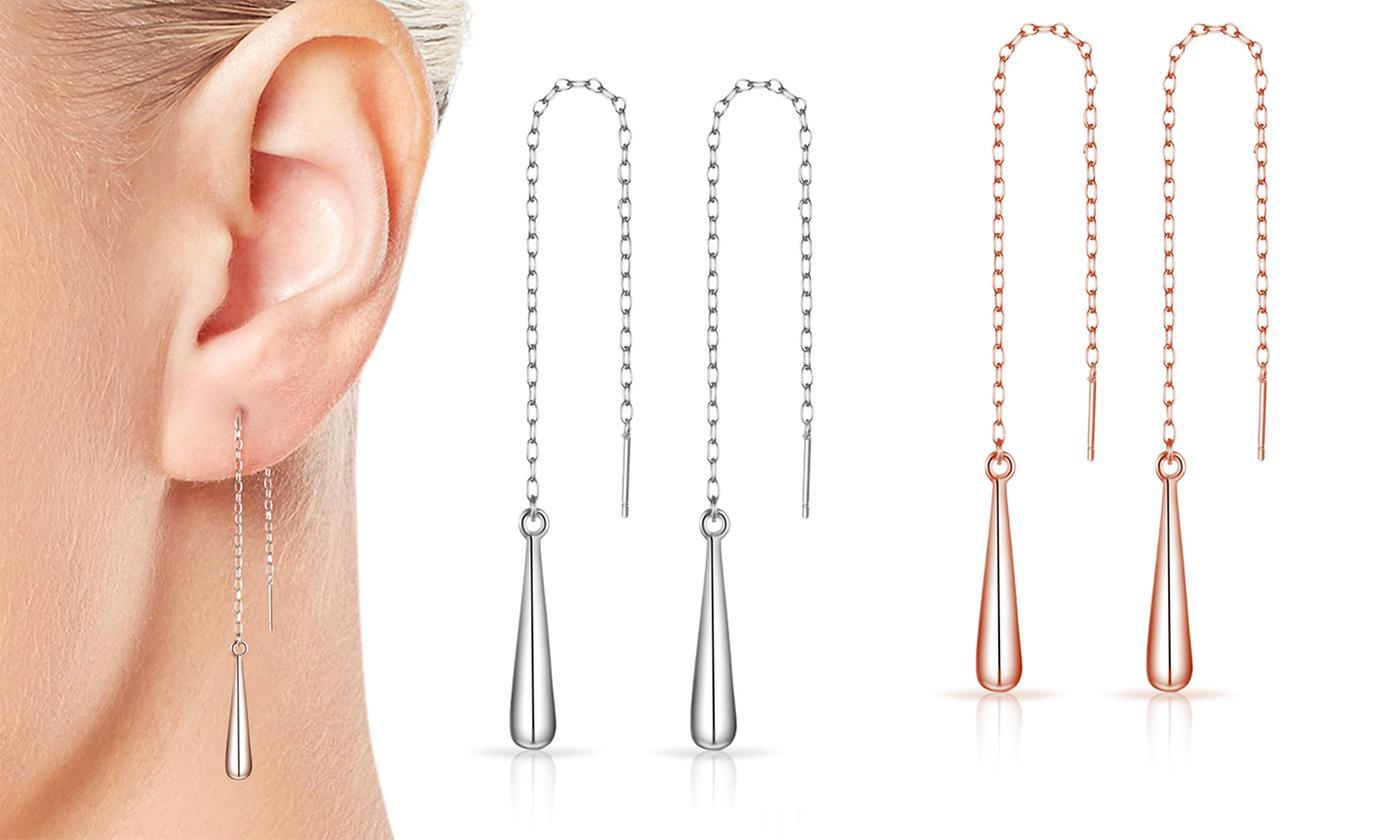 One, Two or Three Pairs of Philip Jones Sterling Silver Teardrop Earrings