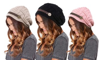 Women's Beanie Hat with Button