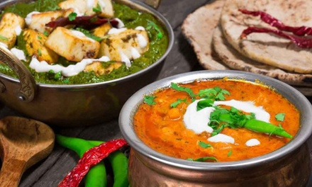 ThreeCourse Indian Dinner + Wine for Two $35 or Four People $65 at Spice Heaven Up to $168.20 Value