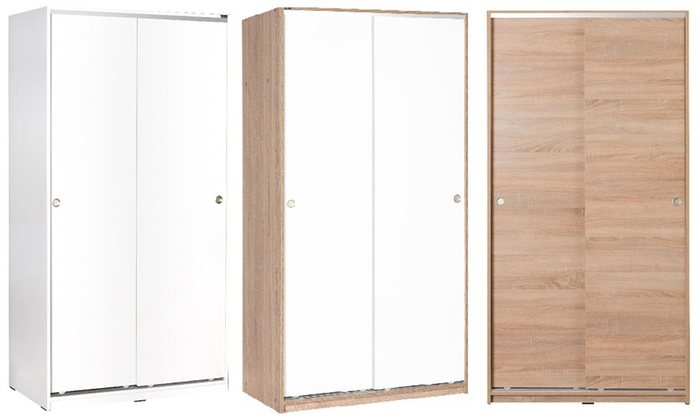 Adore Furniture Sliding Door Double Wardrobe