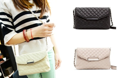One, Two, or Three Quilted Clutch Bags with Designer Chains from Novadab (Up to 89% Off). Choice of Color.