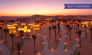 Arabian Nights Village: Desert Safari with Pool Access, House Beverages or Overnight Stay Package at Arabian Nights Village