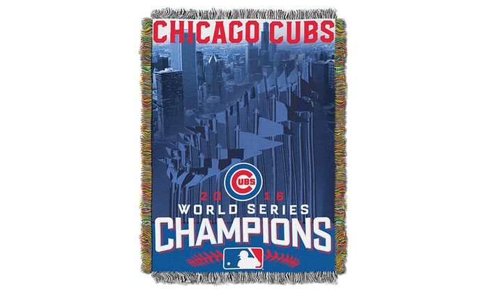 Chicago Cubs 2016 World Series Champions Tapestry Throw